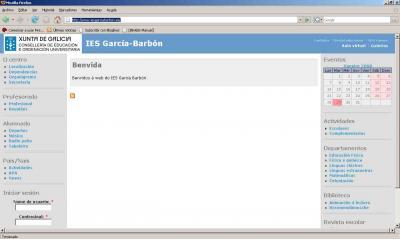 PÁXINA WEB DO IES GARCÍA BARBÓN